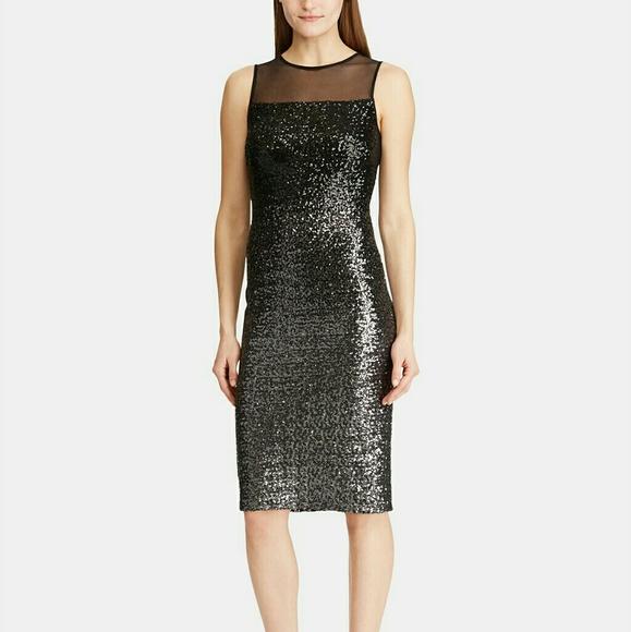 Lauren Ralph Lauren Dresses & Skirts - Lauren Ralph Lauren Sequined Sleeveless Midi Dress